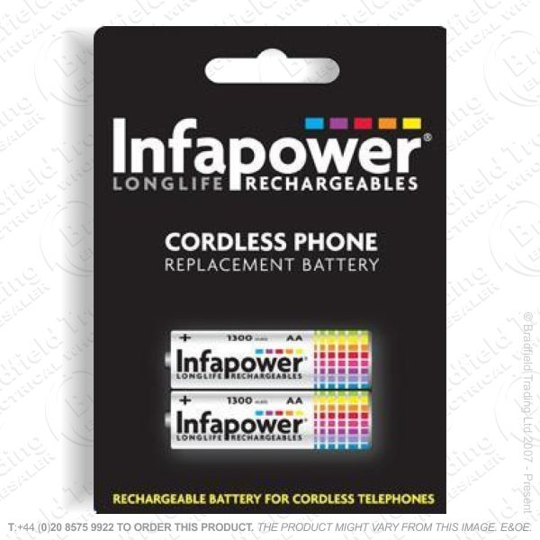 E13) Battery Phone 2x AA 12 NiMh INFAPOWER