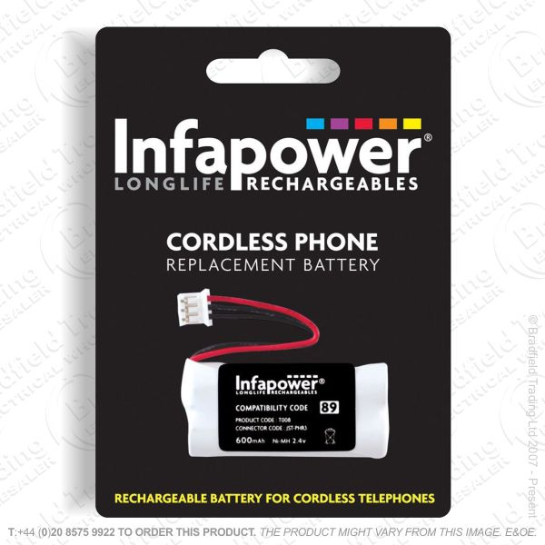 E13) Battery Phone 2x AAA 08 NiMh 89 INFAPOWE
