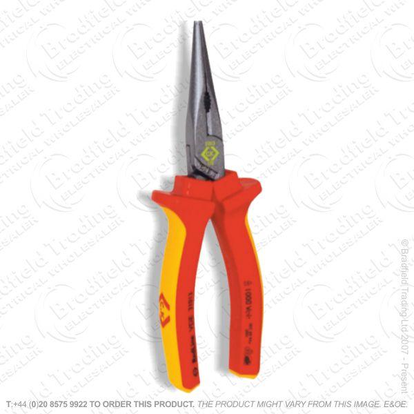 G39) Pliers Long Nose 200mm VDE CK