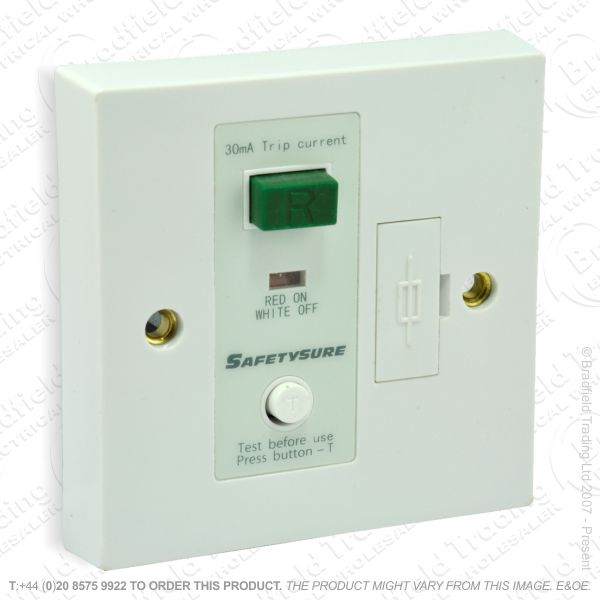 I12) Spur RCD Fused white TIM