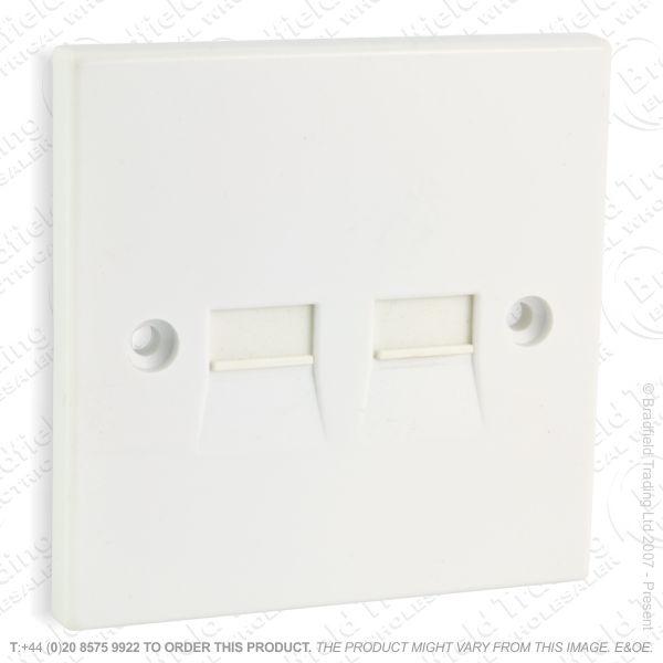 I30) Telephone BT Flush Slave 2G Socket White
