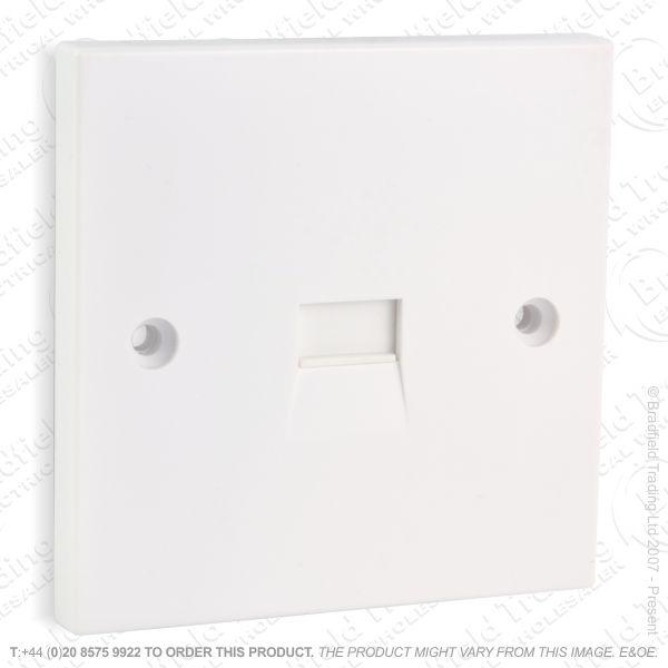 I30) Telephone BT Flush Slave 1G Socket White