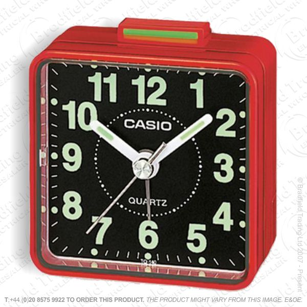C30) Alarm Clock Beep CASIO Red