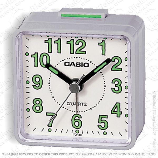 C30) Alarm Clock Beep CASIO Silver