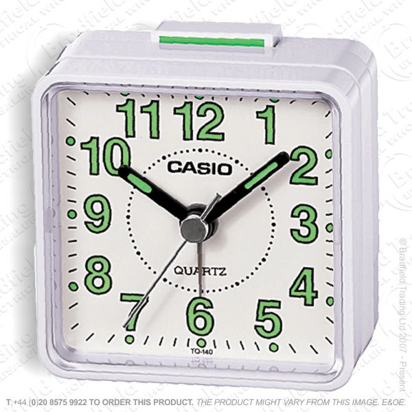 C30) Alarm Clock Beep CASIO White