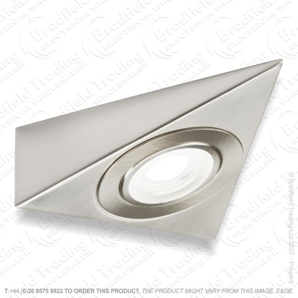 LED Under Cabinet Triangle 2w Brush Chr