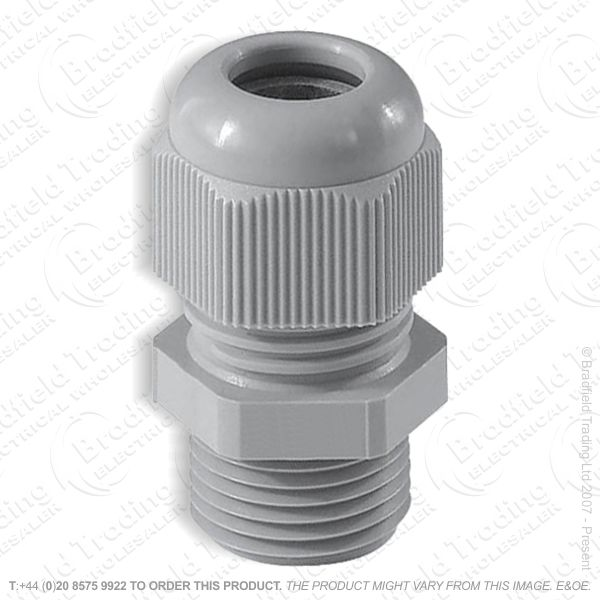 H12) Stuffing Gland   Lock Nut 12mm Grey