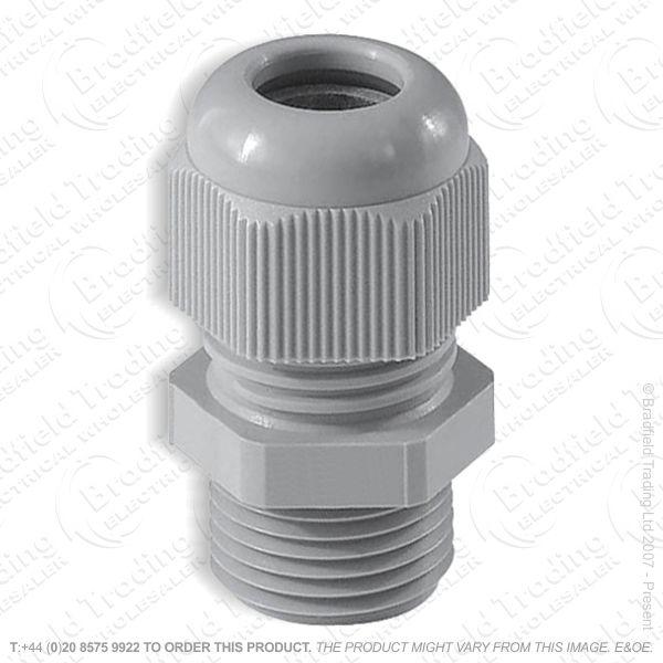 H12) Stuffing Gland   Lock Nut 16mm Grey