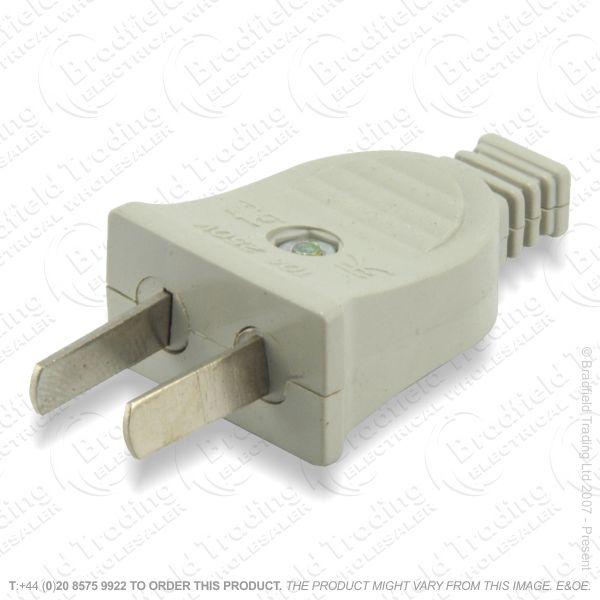 F02) Plugs USA 10A 250V 2pin grey