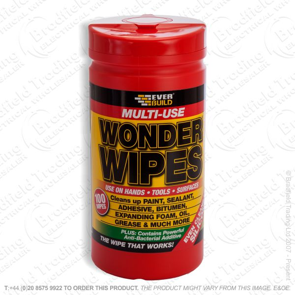 C23) Wonder Wipes Box80 EVERBUILD