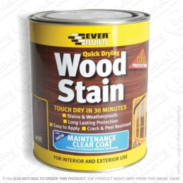Wood Stain Clear Coat Satin 750ml EVERBU