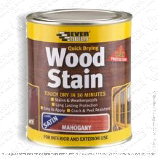 Wood Stain Mahogany 750ml EVERBUILD
