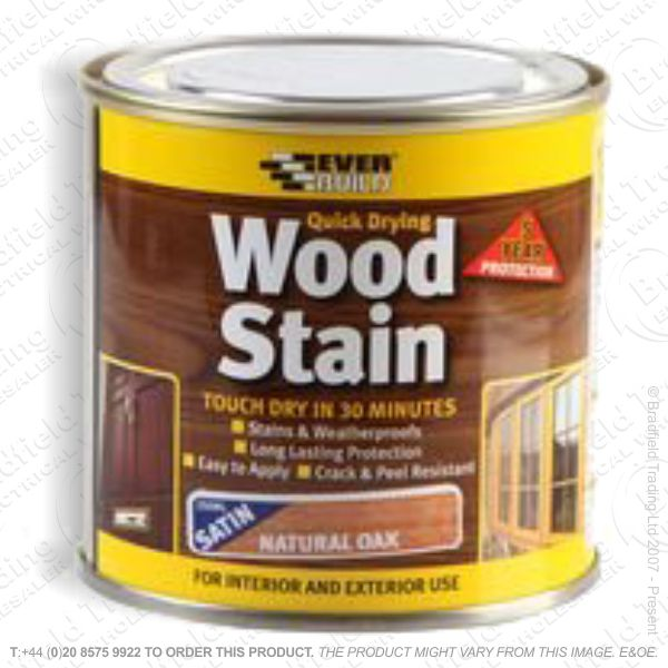 Wood Stain Natural Oak 250ml EVERBUILD