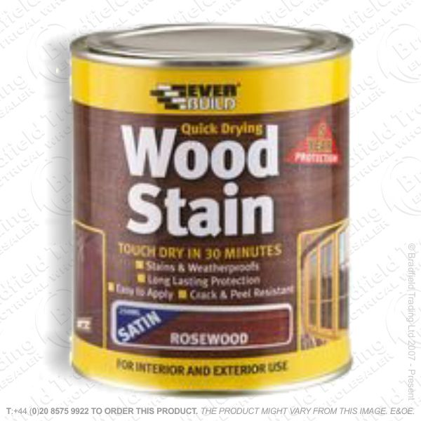 Wood Stain Rosewood 750ml EVERBUILD
