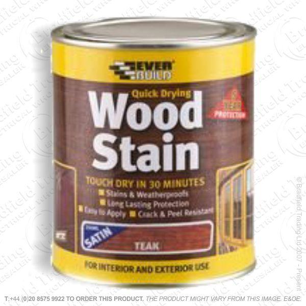 Wood Stain Teak 750ml EVERBUILD