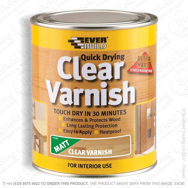 Varnish Matt Quick Dry 750ml EVERBUILD