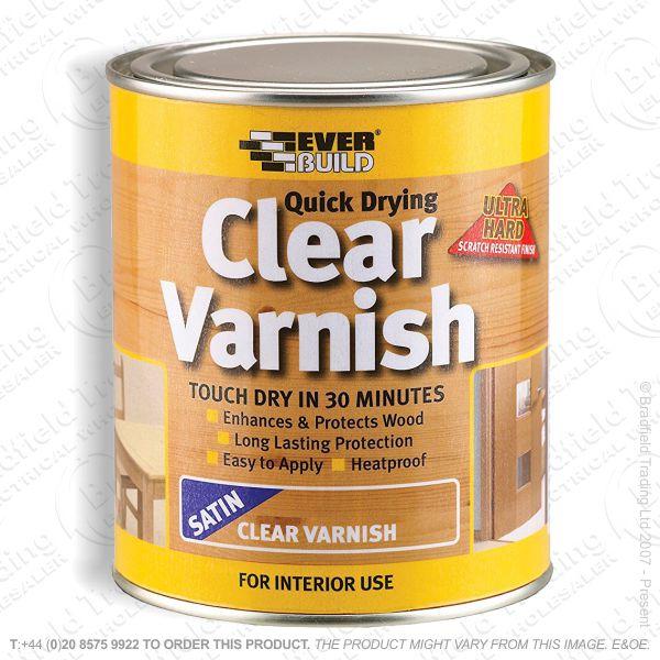 Varnish Satin Quick Dry 750ml EVERBUILD